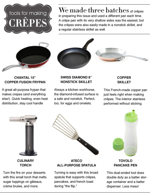 Tools for Making Crepes