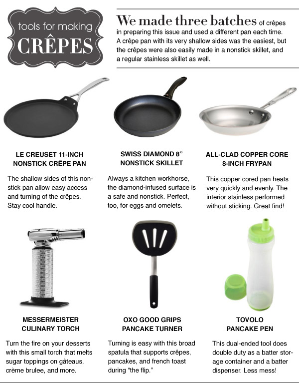 Tools for Making Crep