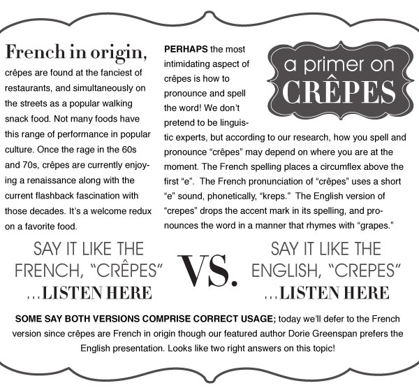 A Primer on Crepes