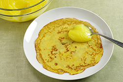 Dollop of Curd on Crepe