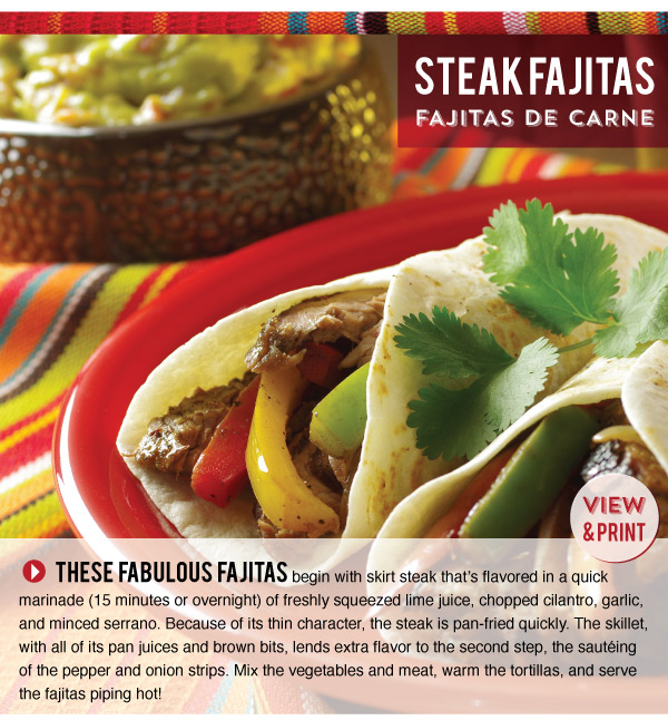 RECIPE: Steak Fajitas