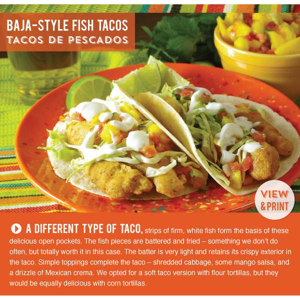 RECIPE: Baja-Style Fish Tacos