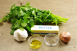 Cilantro Butter Ingredients