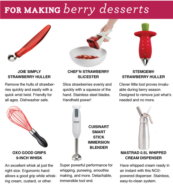 For Making Berry Desserts