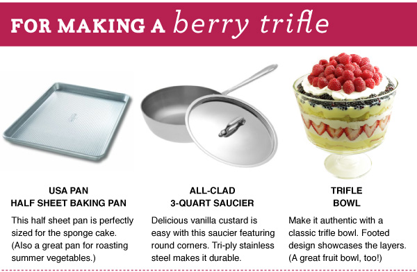 For Making a Berry Trifle