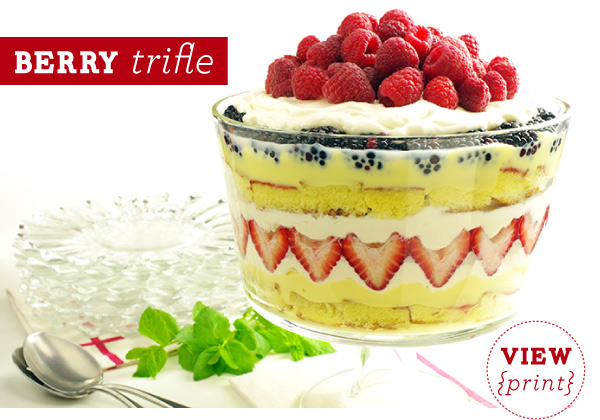 RECIPE: Berry Trifle