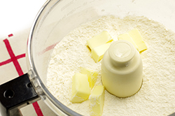 Flour and Butter in Food Processor