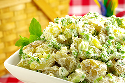 New Potato Salad with Fresh Peas, Lime, and Yogurt