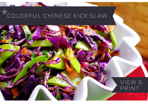 RECIPE: Colorful Chinese Kick-slaw