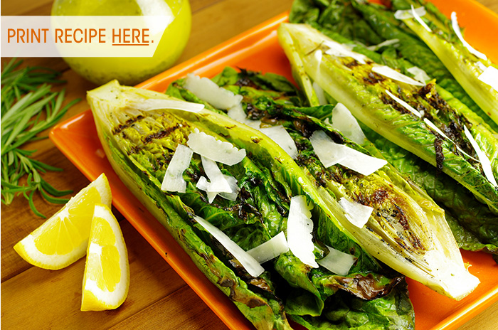 High-Heat Grilled Romaine Salad