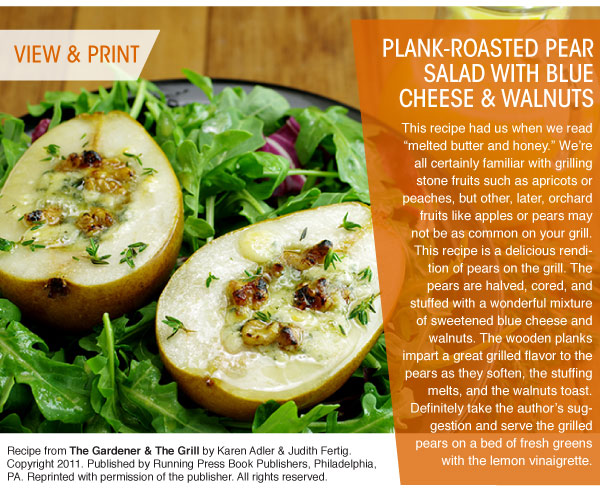 RECIPE: Plank-Roasted Pear Salad with Blue Cheese and Walnuts
