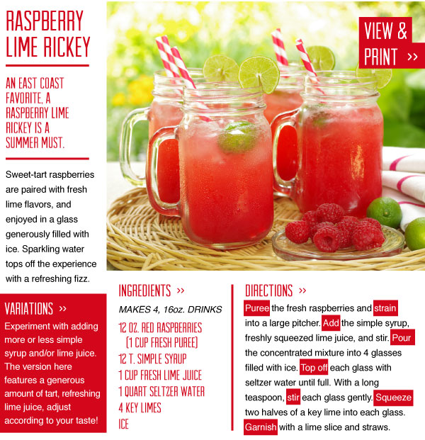 RECIPE: Raspberry Lime Rickey