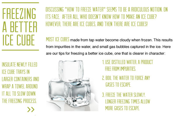 How to Freeze better Ice Cubes