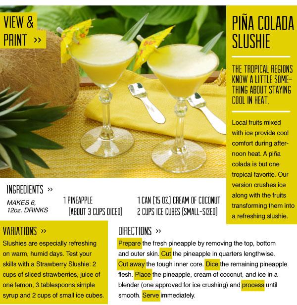 RECIPE: Pina Colada Slushie