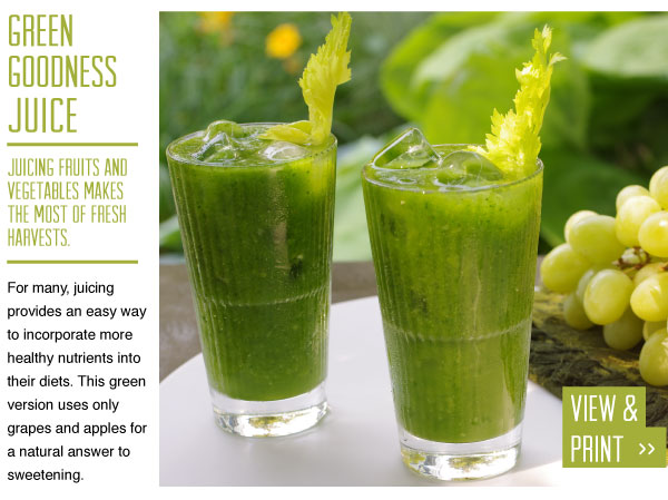 RECIPE: Green Goodness