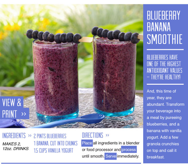 RECIPE: Blueberry Banana Smoothie