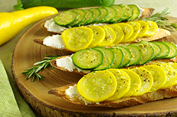Summer Squash Tartine