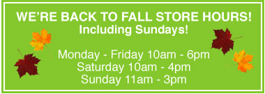 Fall Store Hours