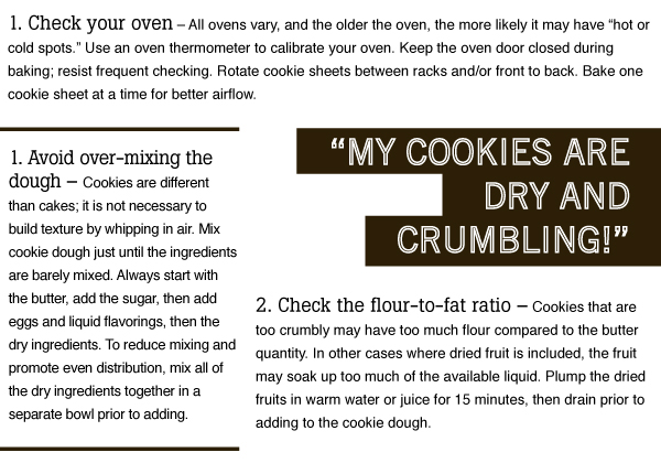 Dry and Crumbling Cookies