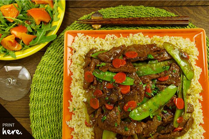Spicy Orange Beef Stir-Fry