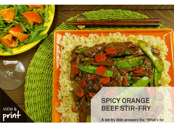 RECIPE: Spicy Orange Beef Stirfry