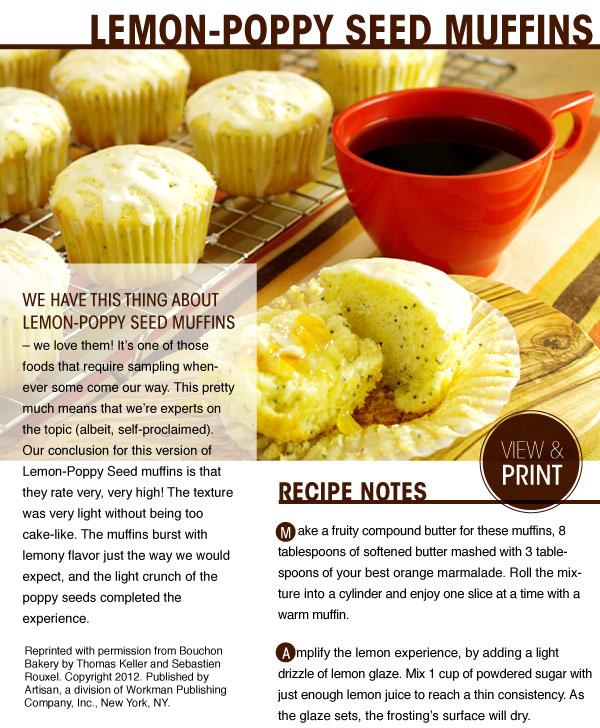 RECIPE: Lemon-Poppy Seed Muffins