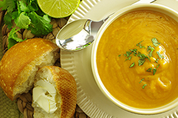 Sweet Potato with Thai Curry and Coconut Soup