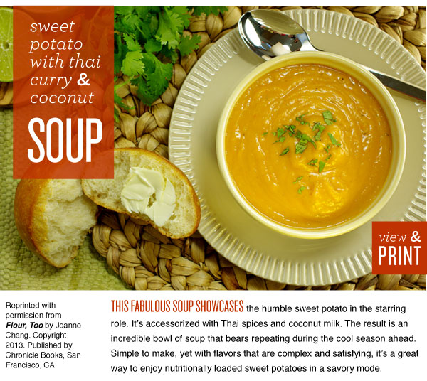 RECIPE: Sweet Potato with Thai Curry and Coconut Soup