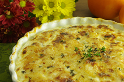 Parmesan-Crusted Potato Gratin with Fresh Thyme