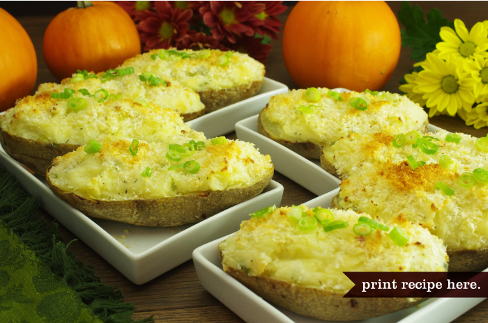 Twice-Baked Gruyère Potatoes with Lots of Green Onions