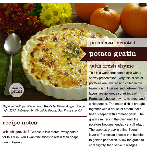RECIPE: Parmesan-Crusted Potato Gratin with Fresh Thyme