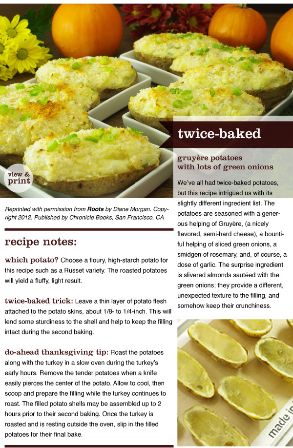 RECIPE: Twice-baked Gruyere Potatoes with Lots of Green Onions