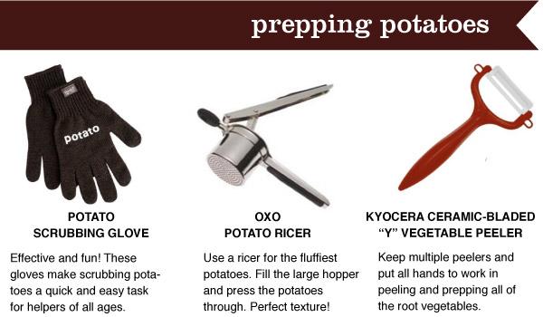 Potatoes Prep Tools