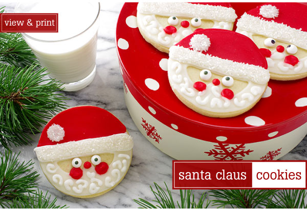 RECIPE: Santa Claus Cookies