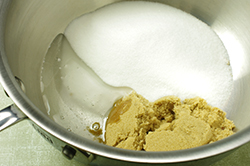 Sugars in Pan