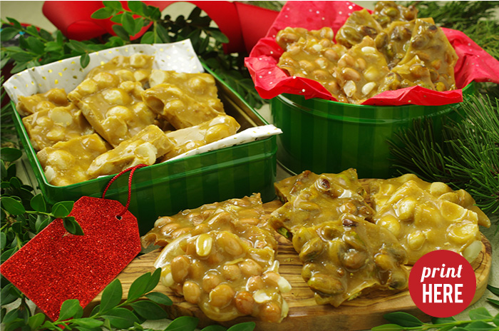 Peanut or Macadamia Brittle