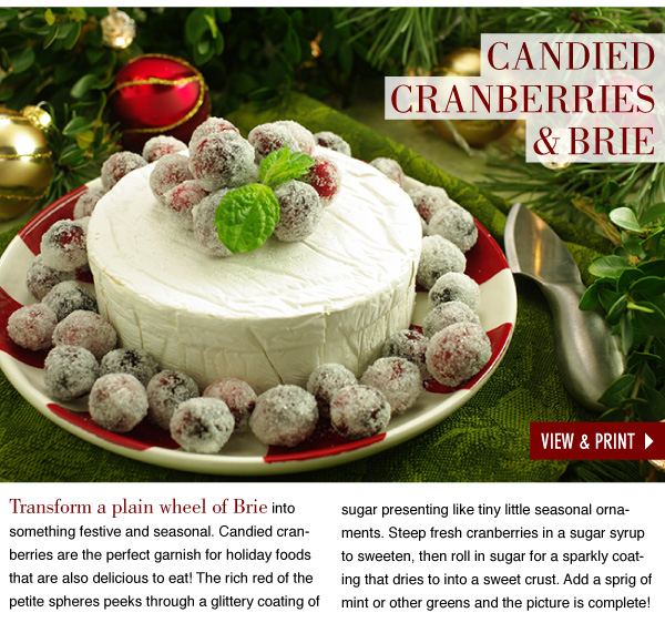RECIPE: Candied Cranberries and Brie