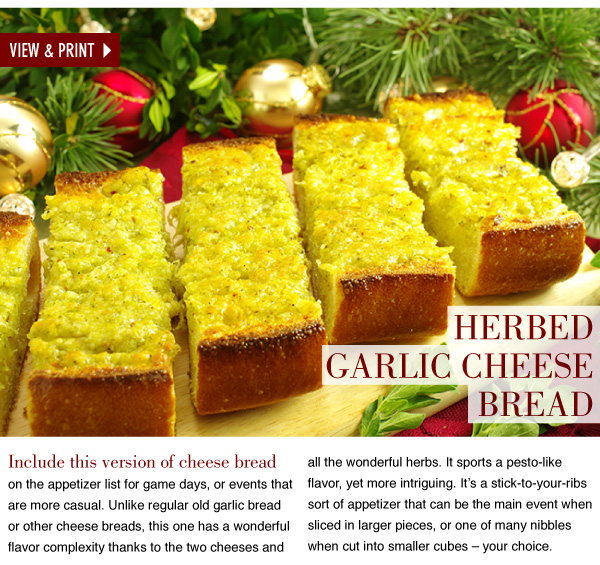 RECIPE: Herbed Garlic Cheese Bread