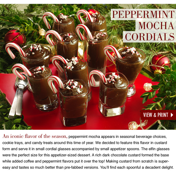Peppermint Mocha Cordials