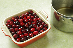 Soaking the Cranberries
