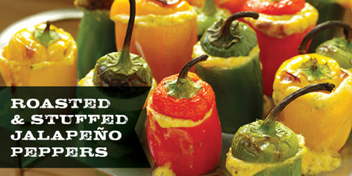 Roasted and Stuffed Jalapeno Peppers