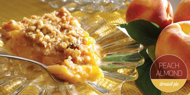 Peach-Almond Streusel Pie