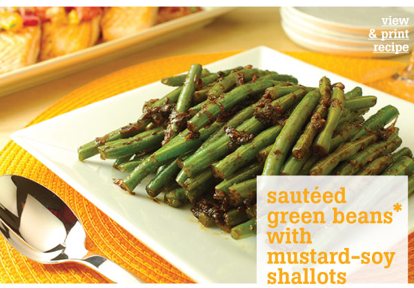 RECIPE: Sauteed Green Beans with Mustard-Soy Shallots