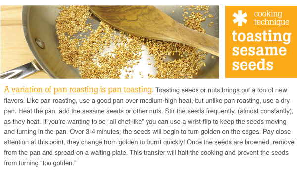 Tip: Roasting Sesame Seeds
