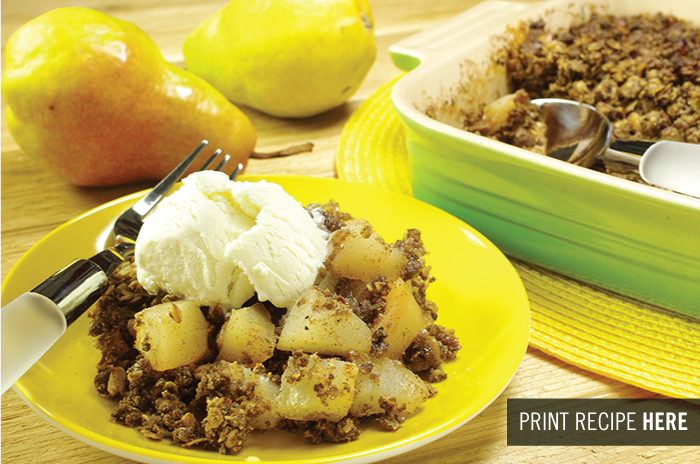 Pear-Walnut Crumble