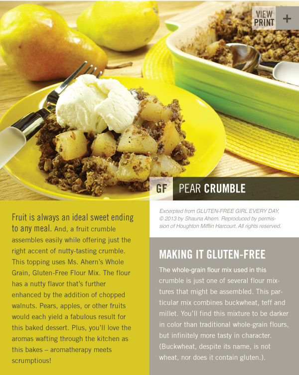 RECIPE: Pear Crumble