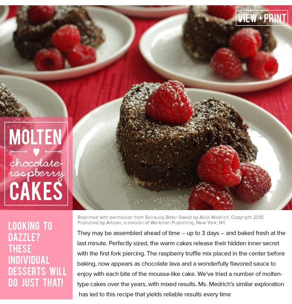 RECIPE: Molten Chocolate-Raspberry Cakes