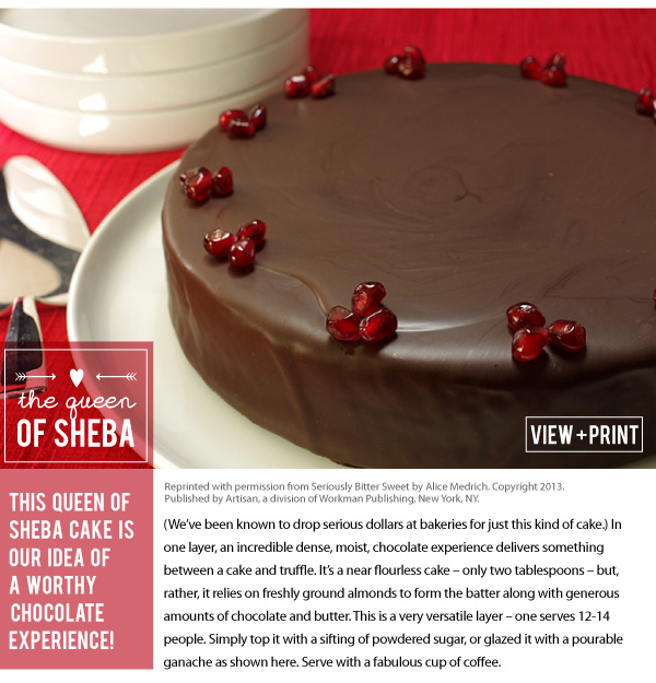 RECIPE: Queen of Sheba