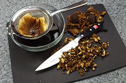Chopped Dry Mushrooms