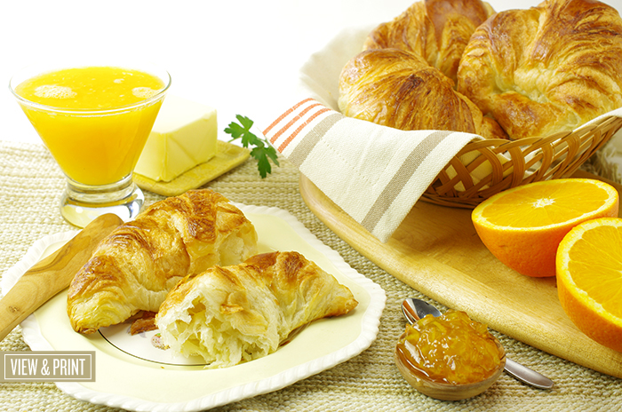 Fresh, Handmade Butter Croissants